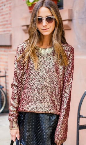 Lush Clothing  Metallic Vineyard Sweater