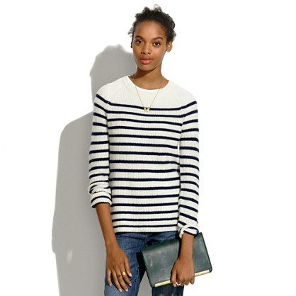 Madewell  Elbow-Patch Stadium Sweater