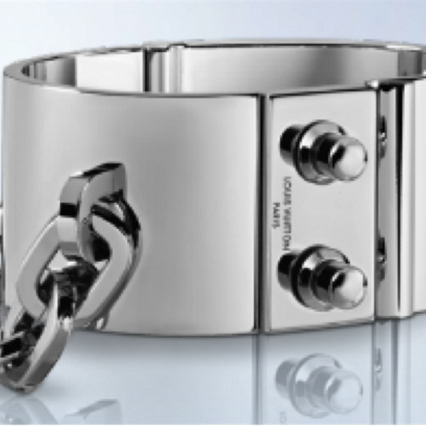 Louis Vuitton Lock Me Metal Palladium Cuff