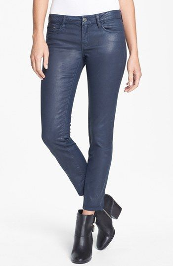 The Kooples  Coated Stretch Skinny Jeans