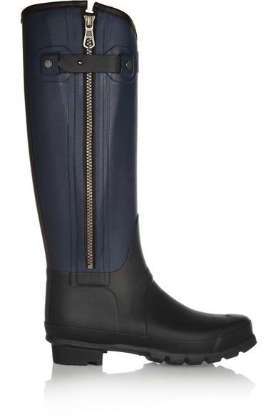 Hunter + Rag & Bone   Leather Effect Wellington Boots