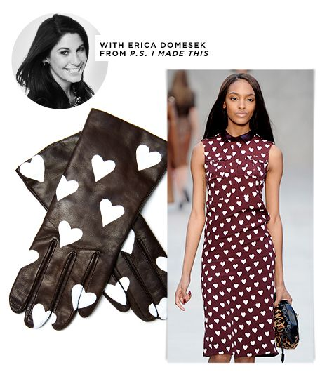 Fall DIY: Heart-Print Gloves
