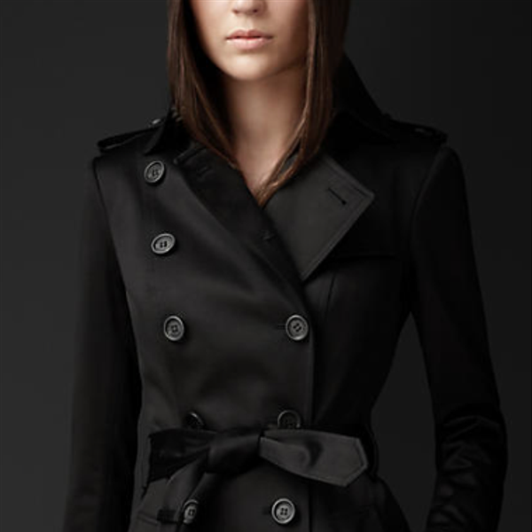 Burberry  Cotton Sateen Trench Coat