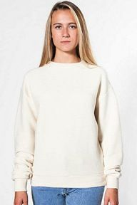 American Apparel  Unisex Cotton Ottoman Rib Drop-Shoulder Pullover