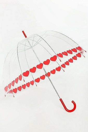 Urban Outfitters  Heart Trim Bubble Umbrella