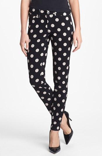 Kensie  Polka Dot Skinny Pants