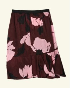 Marni  Marni Winter Floral Print Skirt