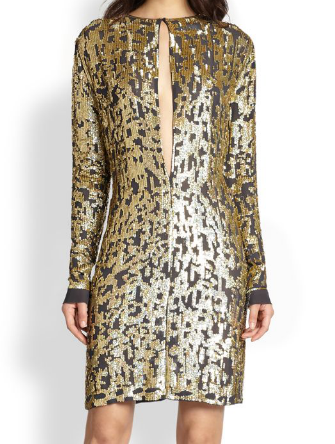 10 Crosby Derek Lam  Silk Burnout Sequined Dress