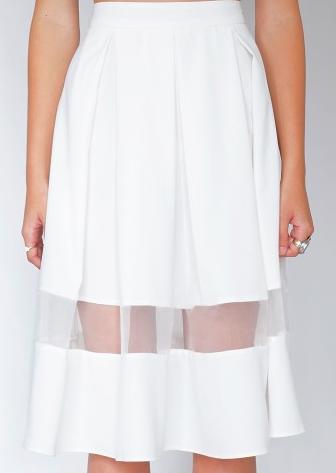 Pixie Market  Mesh Midi Skirt