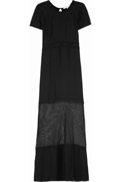 Jonathan Simkhai  Mesh-Paneled Maxi Dress