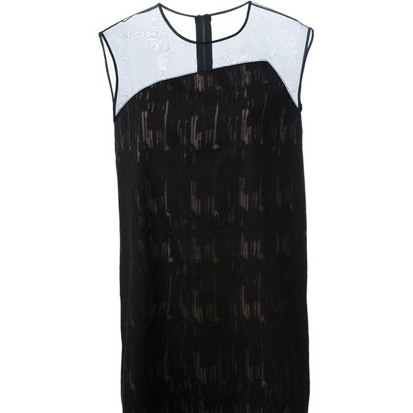 Helmut Lang  Sheer Panel Shift Dress