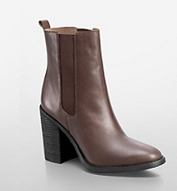 Calvin Klein  Maggie Leather Mid Length Booties
