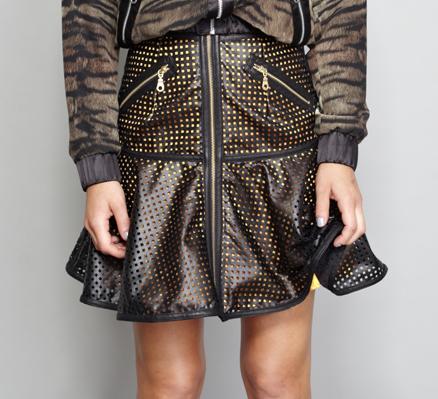 Shakuhachi Laser Peplum Skirt