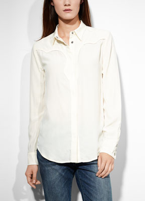 Levi's Silk Boyfriend Western Shirt