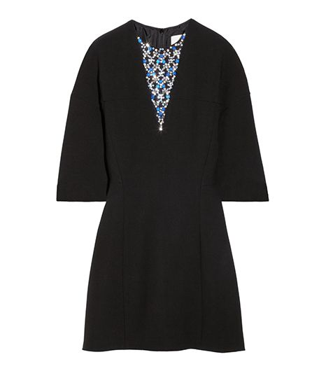 3.1 Phillip Lim  3.1 Phillip Lim Crystal-Embellished Wool-Blend Crepe Dress