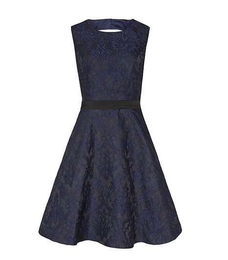 Reiss  Reiss Natalie Blu Two Tone Fit and Flare Dress