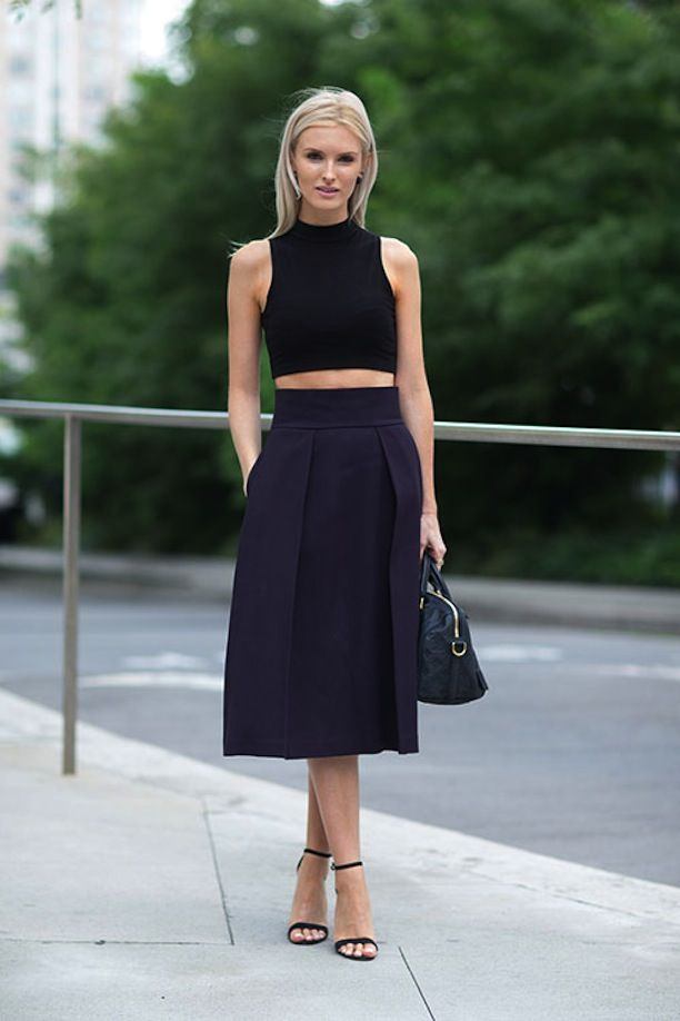 Get Inspired To Mix Navy and Black With These 4 Street Style Looks
