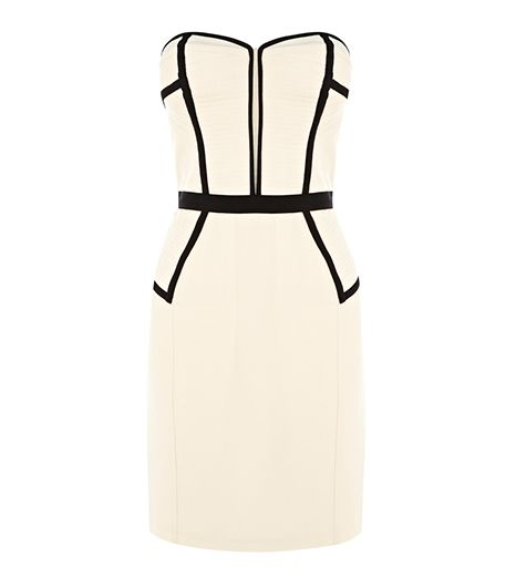 Warehouse  Warehouse Bustier Detail Pencil Dress
