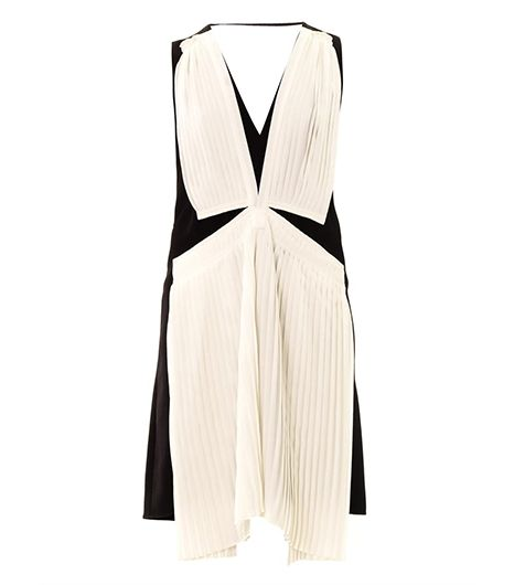 Vanessa Bruno Vanessa Bruno Contrast Pleat Crepe Dress