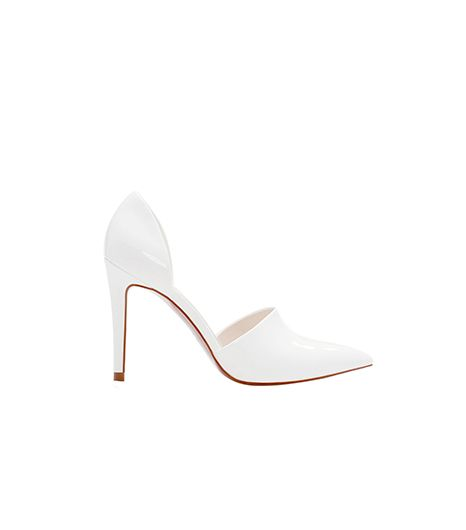 Zara  Zara High Heel Vamp Shoe With Heel Back