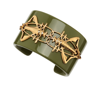 Tory Burch Camille Grasshopper Resin Cuff