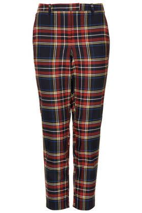 Topshop  Red and Blue Check Trousers