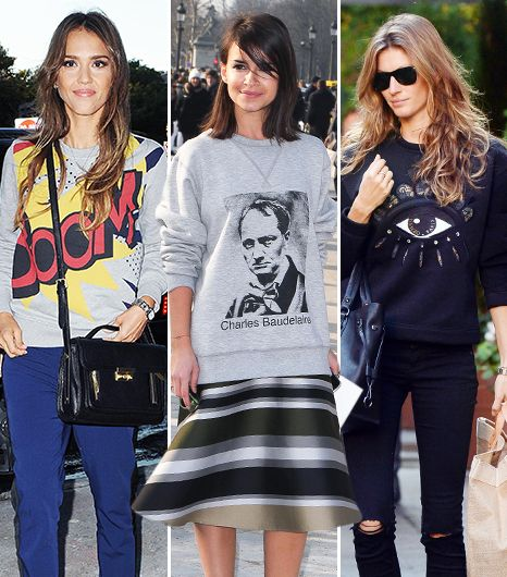 There's More Than One Way To Wear Your Sweatshirt