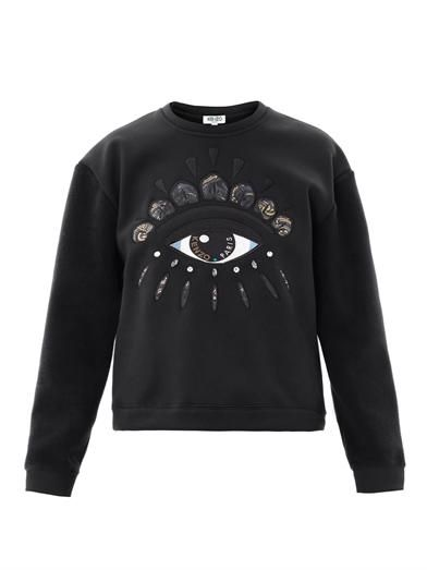 Kenzo  Lotus-Eye Embroidered Sweatshirt