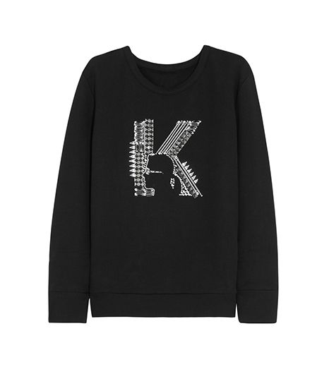 Karl Lagerfeld  Printed Cotton-Jersey Sweatshirt