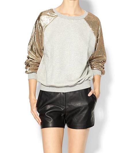 Glamorous Sequin Sleeve Sweatshirt
