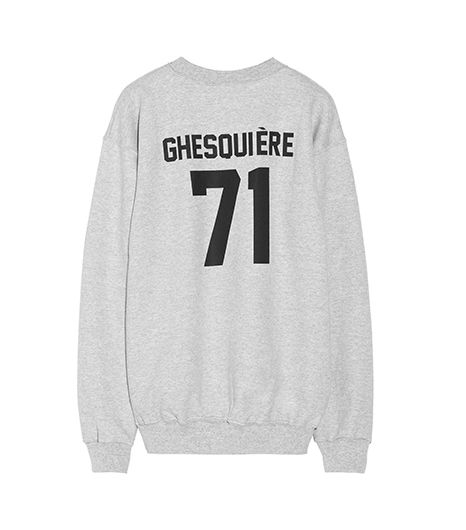 LPD New York  Team Ghesquiere Printed Cotton-Fleece Sweatshirt