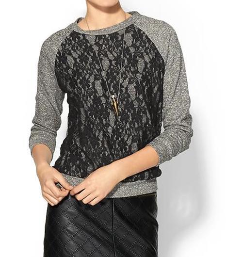 Elan  Lace Sweatshirt