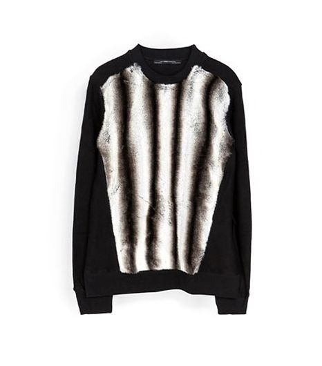 Zara  Fur Sweatshirt