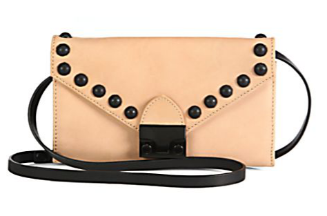 Loeffler Randall  Studded Lock Convertible Wallet Clutch