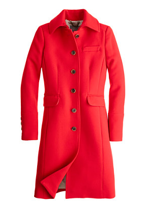 J.Crew Double-Cloth Metro Coat With Thinsulate