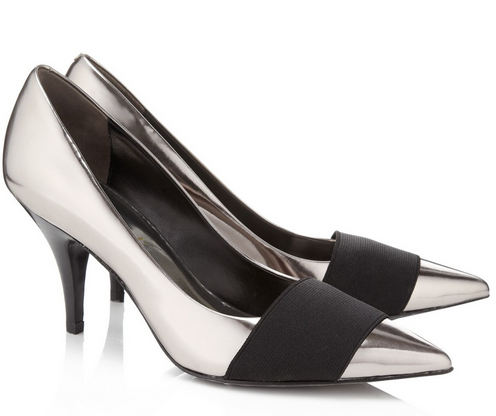 3.1 Phillip Lim Gunmetal Dove Kitten Heels