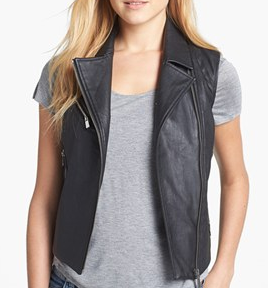 Two By Vince Camuto Faux Leather Moto Vest