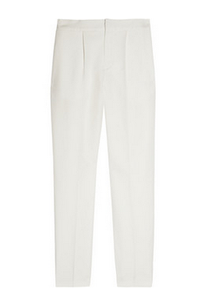 Chloe Cropped Linen And Cotton-Blend Straight-Leg Pants
