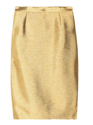 Just Cavalli Metallic-Twill Pencil Skirt