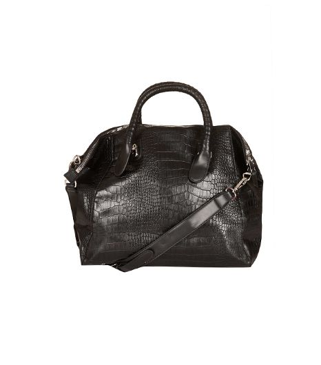 Topshop Croc Slouchy Holdall Tote