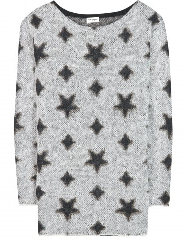 Saint Laurent  Star-Intarsia Sweater