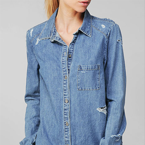 Paige Denim Eden Destructed Shirt
