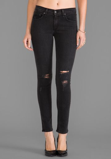 Rag & Bone  Skinny Rock With Holes Jeans