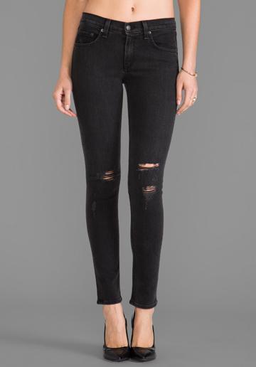 Rag & Bone  Skinny Rock With Holes Jeans