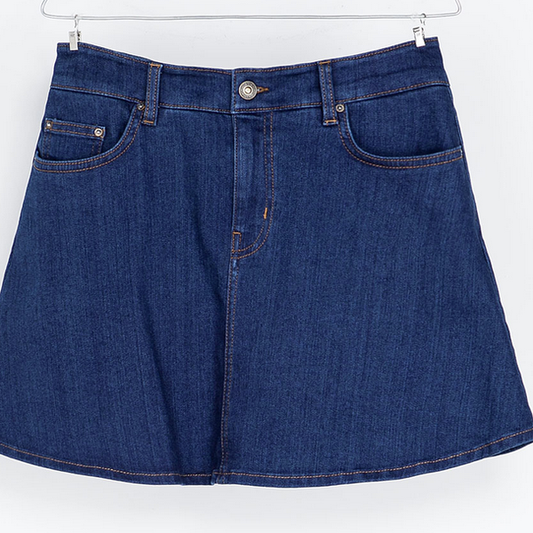 Zara  Denim Skater Skirt