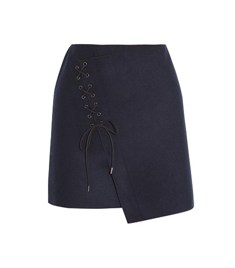 Vanessa Bruno  Vanessa Bruno Lace-Up Wool-Blend Felt Skirt