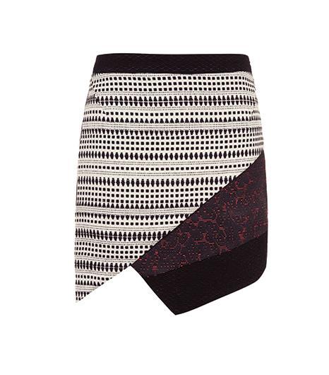 Topshop  Topshop Mix Jacquard Wrap Skirt