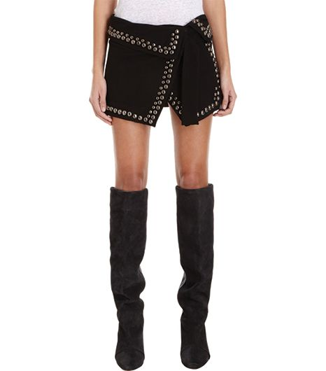 Isabel Marant  Isabel Marant Loop Studded Wrap Skirt