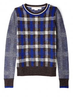 O'2ND Blue Scottie Check Jumper