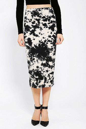Motel  Bobbi Tie-Dye Midi Skirt